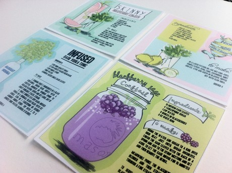 incredibly fun illustrated cocktail recipe cards that I simply adore ...